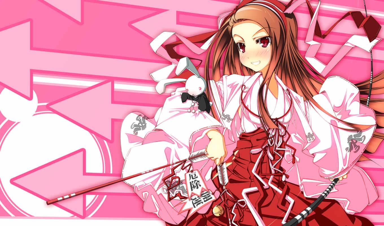 idolmaster, weapon, hair, bow, xenoglossia, anime,