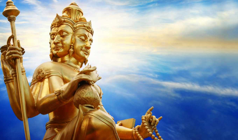 hindu, god, статуя, stock, амулет, indian, shiva, brahma, lord, фото, храм,