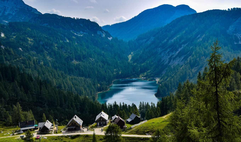 станция, hill, австрия, naturaleza, bergsee, гора, природа, landscape