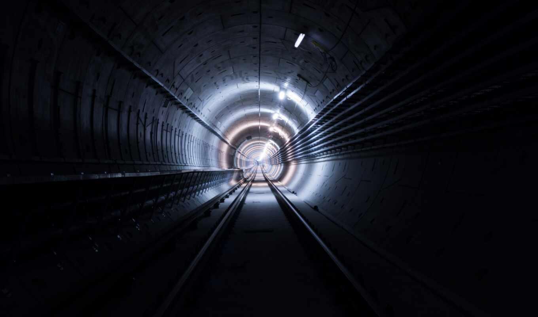 туннель, свет, конец, dark, трек, фото, hrm, line