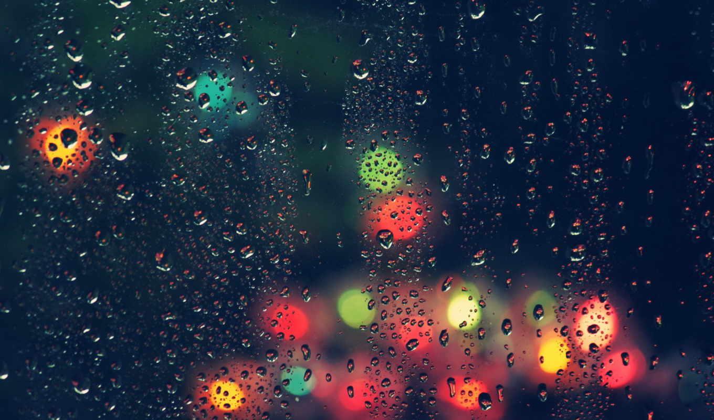 капли, стекло, дождь, úö½, картинка,