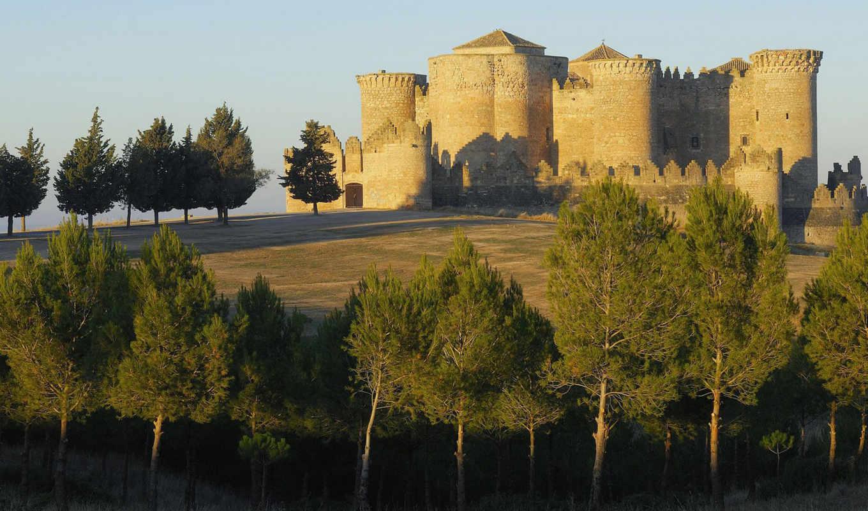 испания, castle, альбасете, замки, города, испании, scenery,