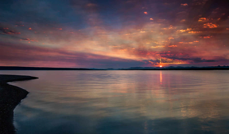 озеро,