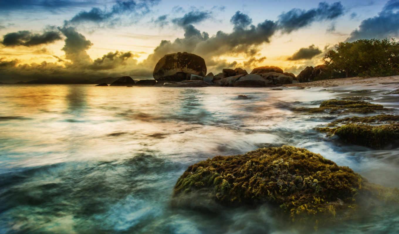 hdr, побережье, priroda, пейзаж, more, oblaka, kartinka, посмотрет, картинку, caribbean, испания,
