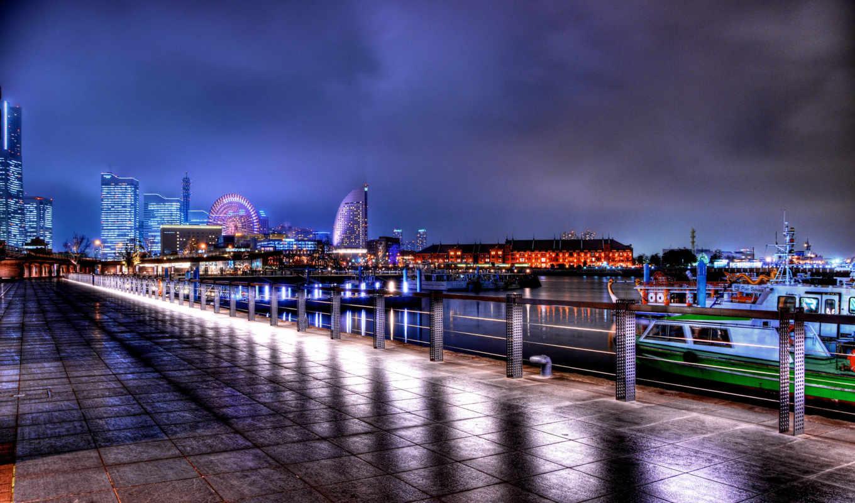 панорама, miasta, hdr, город, ночь,