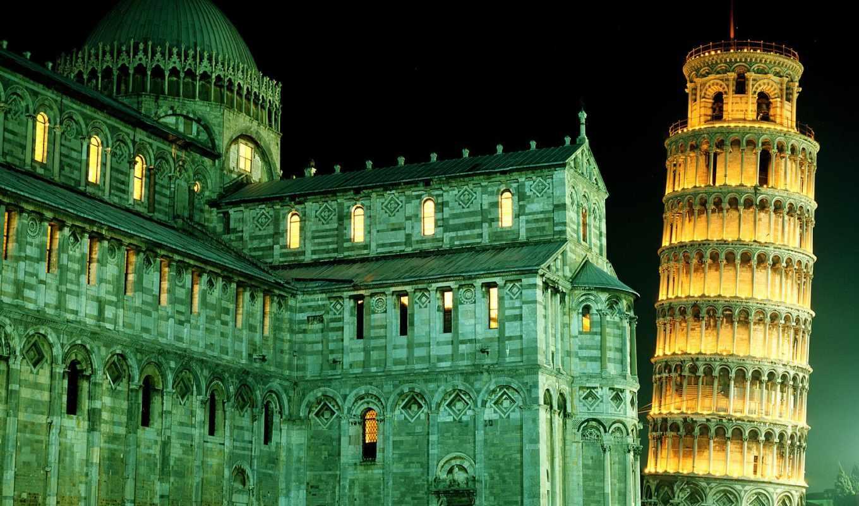 turret, пизанская, pisa, ночи, ночью, italy, башни, ngorod,