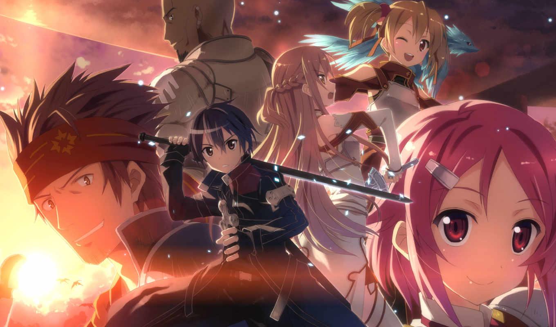 yuuki, sword, art, online, kirito, tatsuy, asuna, agil, lisbeth, klein, silica,