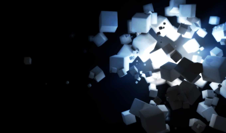 фон, powerpoint, cubes, squares, огни, desktop, absztrakt,