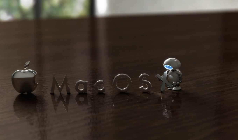 mac, робот, размытость, apple, iphone,