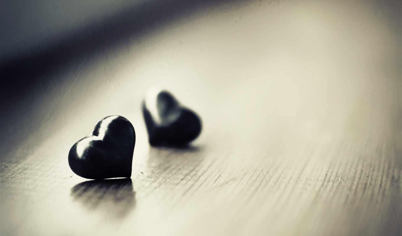 сердце, макро, разное, настроение, сердечки, сердечка, два, сердцу, картинка, черных,