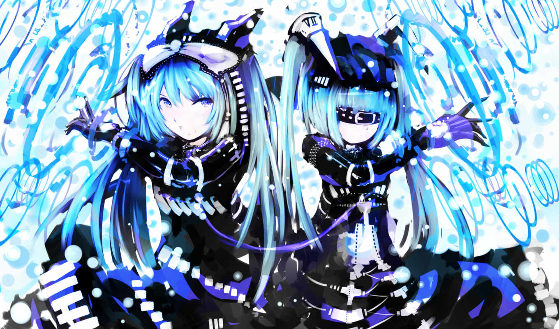 anime, девушки, girls, глаза, волосы, косички, blue, similar, девушка, синие, категории, арт, desktop,