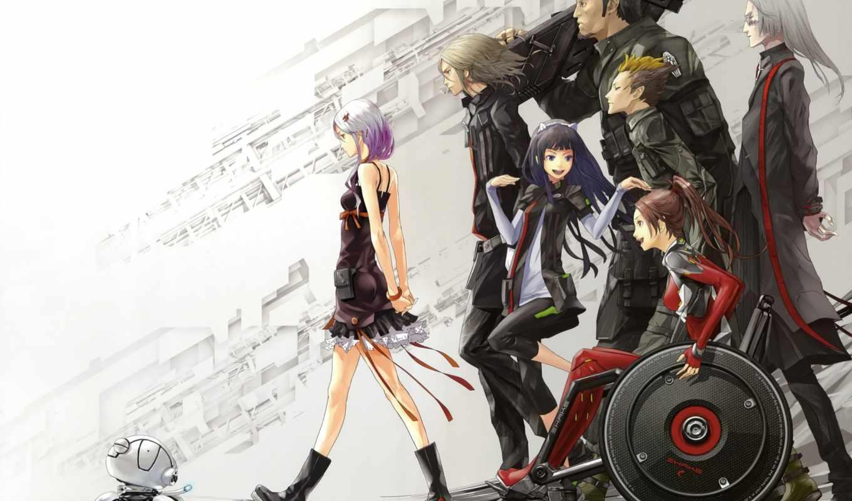 anime, crown, вины, guilty, inori, yuzuriha, девушка,