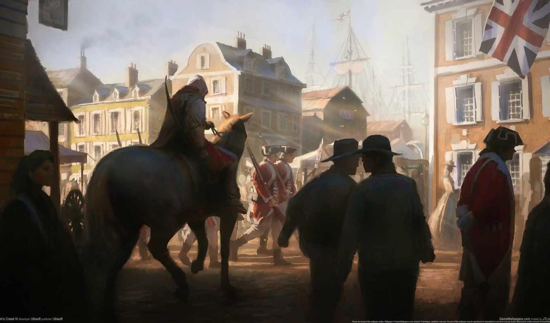 assassin, creed, лошади, iii, будет, издание, ассасин, будем, мар, между, убийца,