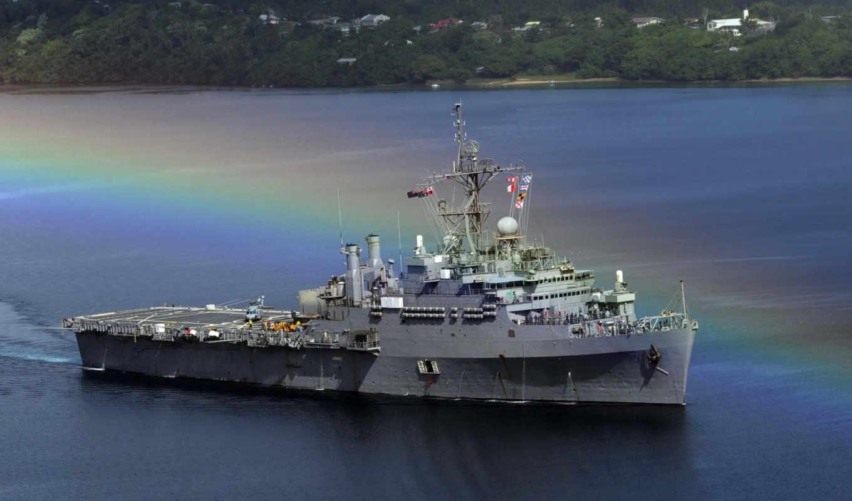 радуга, корабли, военные, океан, боевой, флот, корабль, море, картинка, iphone,