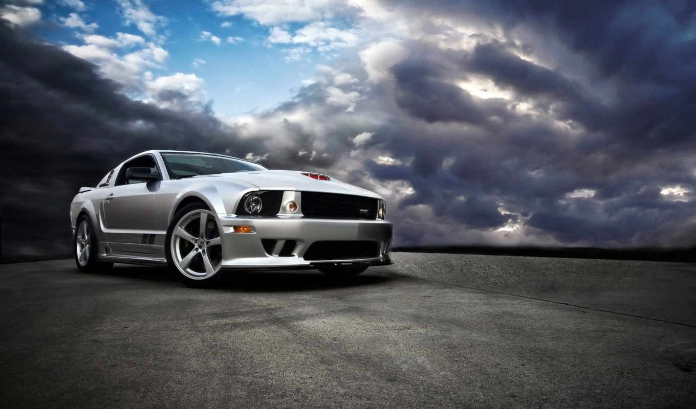 mustang, ford, sms, cars, clouds,
