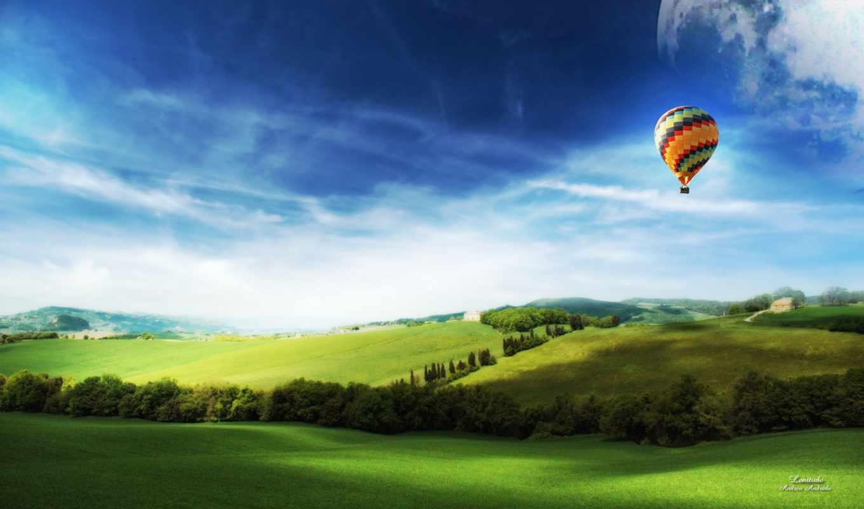мяч, aerial, небо, широкоформатные, share, воздушном, поле, добавить, небе, шары,
