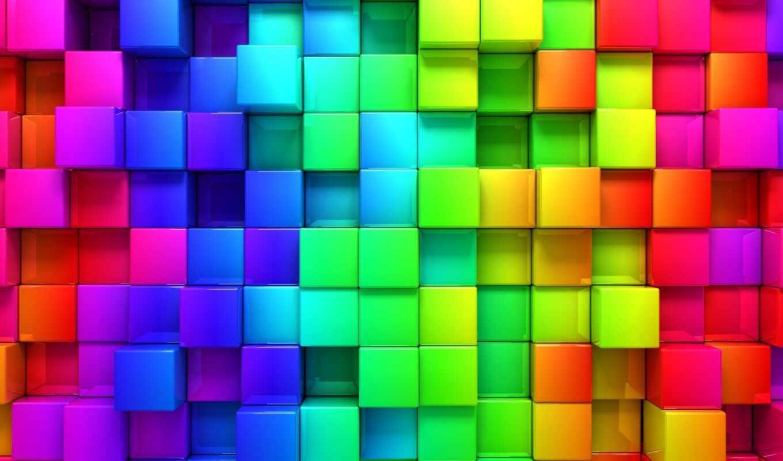 яркий, фон, графика, кубик, радуга, красивый, геометрия, drawing, abstrakcionizm