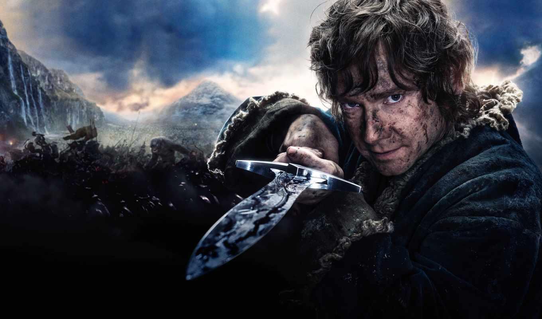 hobbit, бэггинс, bilbo, пяти, битва, воинств, гэндальф, der,