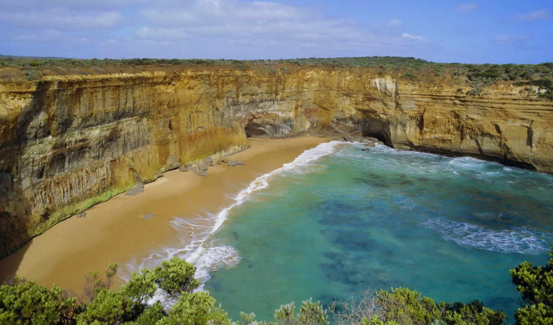 красота, склон, гавань, австралия, wallpapers, виктория, nature, beach, wallpaper, and, смотрите, australia, дорога, desktop, priroda, океанская, hd, большая,