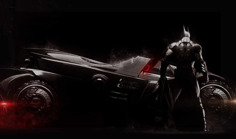 batman, arkham, рыцарь, бэт-мобиль