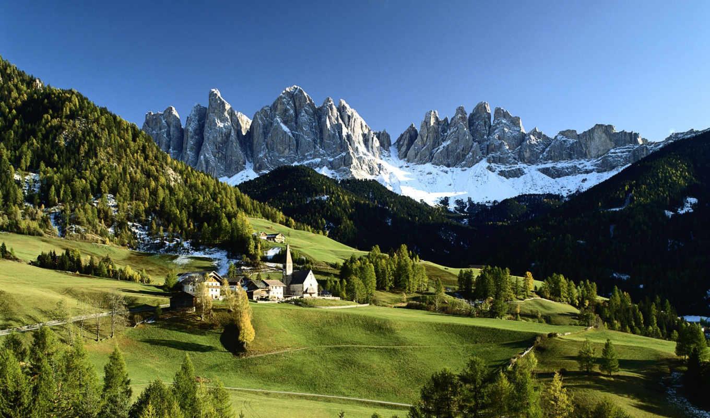 природа, italy, горы, италии, пейзажи -,