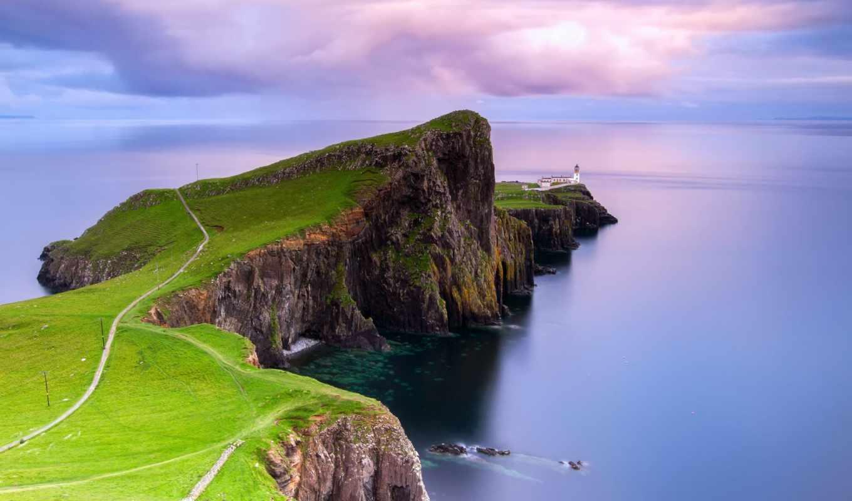 point, neist, lighthouse, scotia, архипелаг, hebrides, внутренние, остров, iphone,