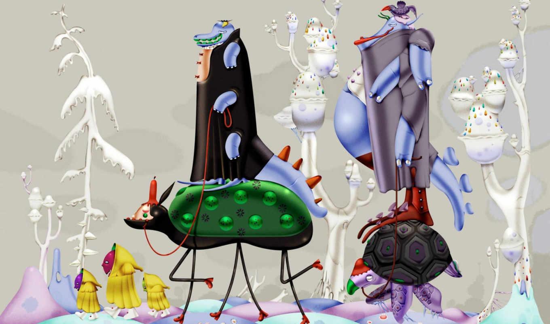 windows, microsoft, seven, фантазия, больная, cartoon, смотрите, desktop, abstract, bis, large,