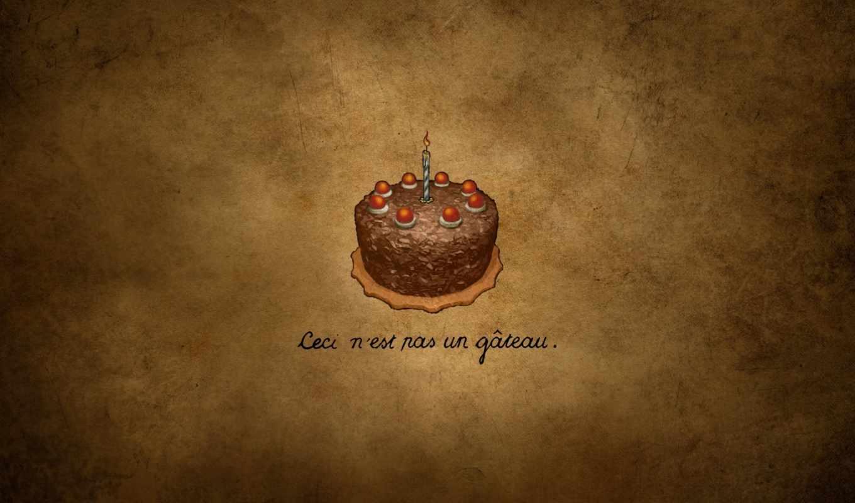 тортик, свечка, надпись, шоколадный, картинка,