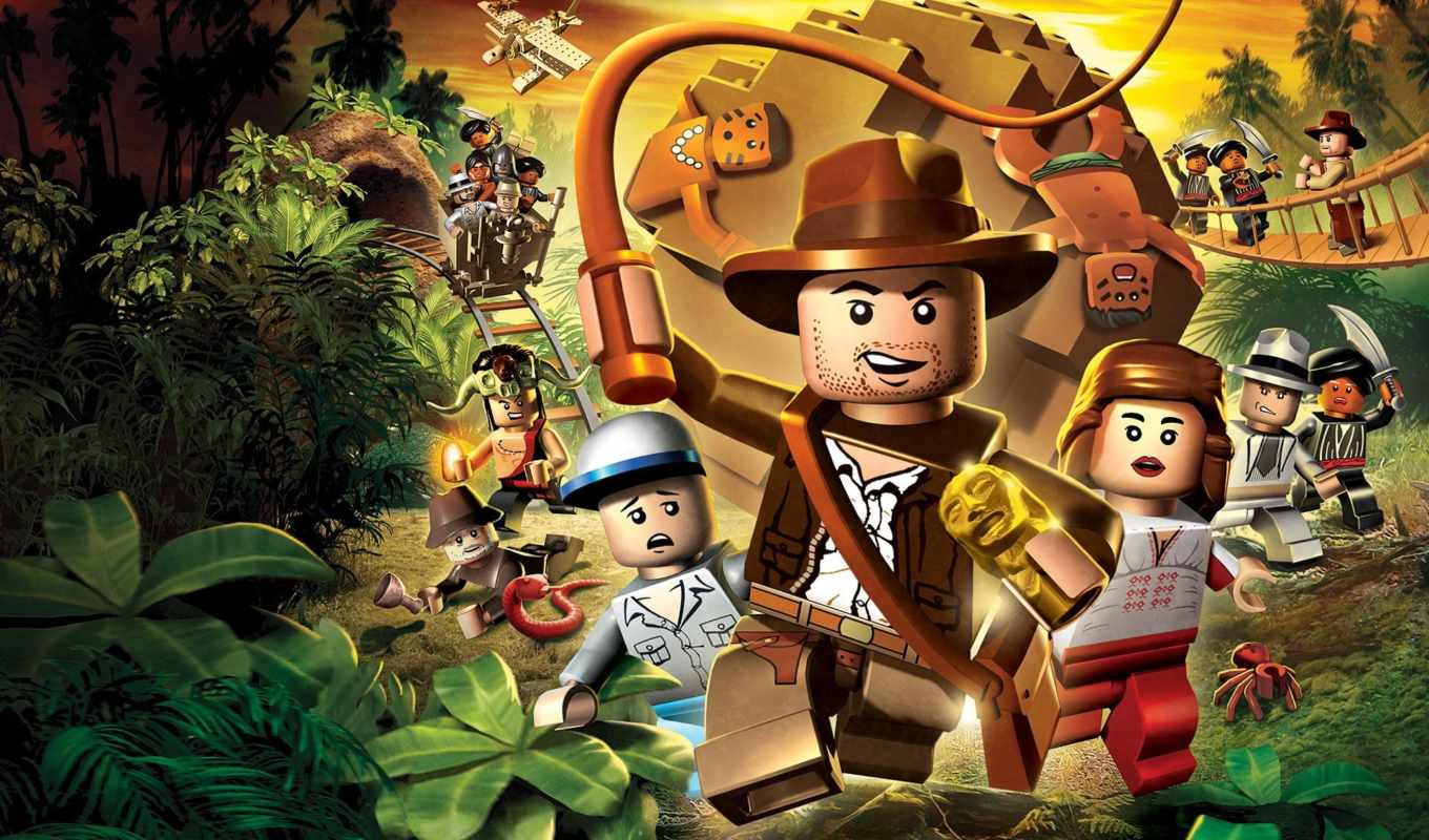 indiana, lego, jones, игра,