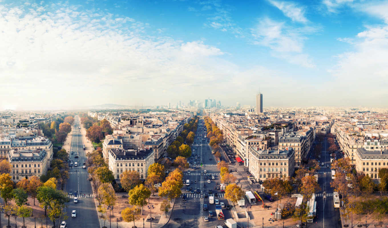 париж, осень, париже, франция,