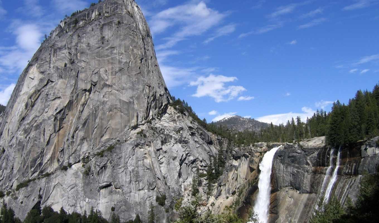 разных, разрешениях, rock, яркие, водопад, заставки,