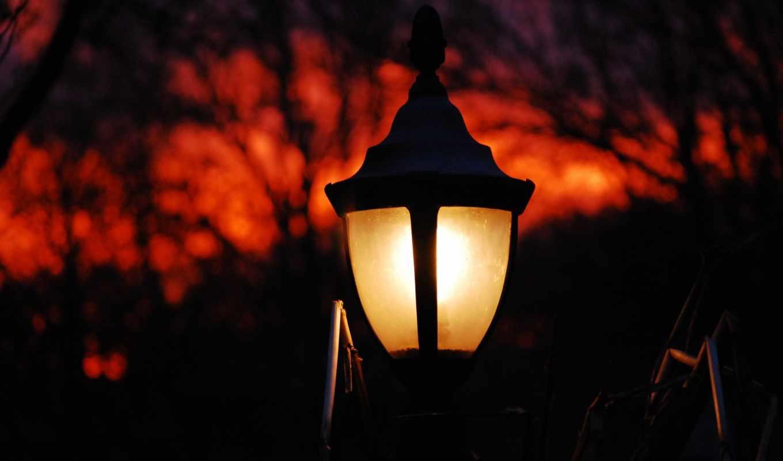 небо, house, свет, ночь, ukraine, park, лампа,