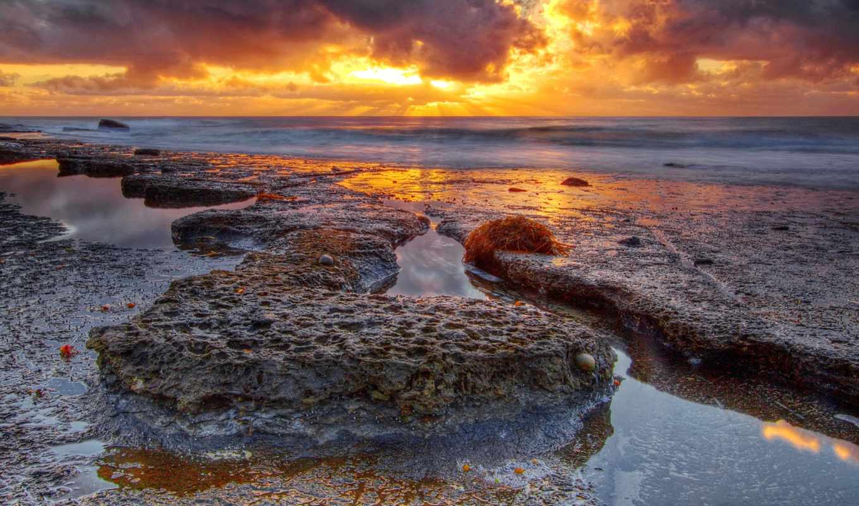 море, природа, берег, мб, количество, февр, скалистый, закат,