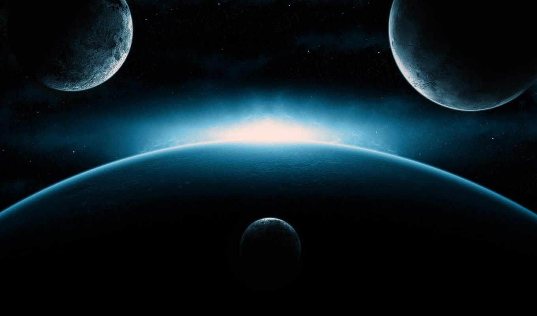 космос, фон, desktop, blue,