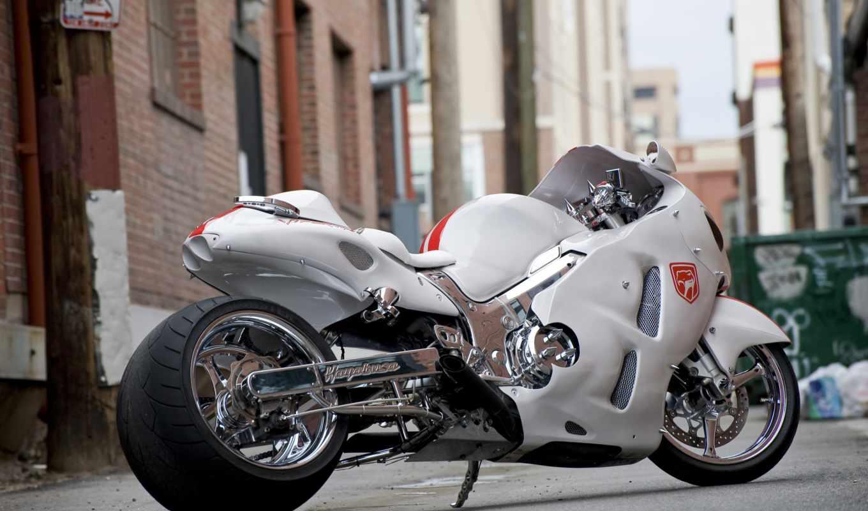 suzuki, gsx, мотоциклы, hayabusa, white, мотоцикл, качественные, предпросмотром,