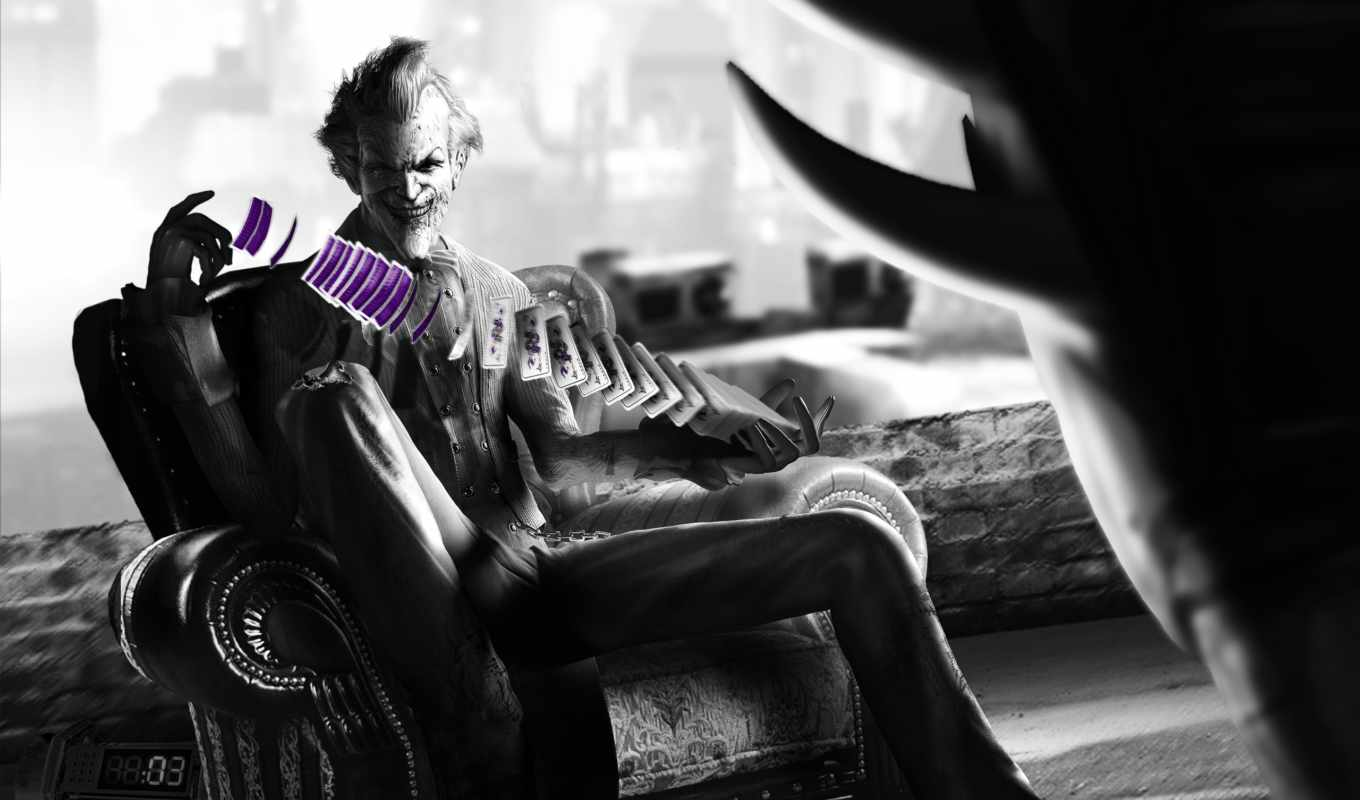 joker, batman, arkham, город,