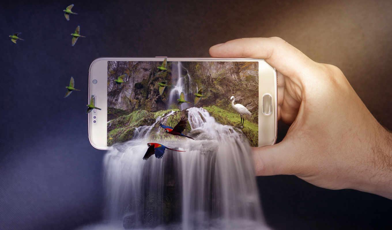 digital, pemandangan, air, terjun, gratis, pixabay, foto, gambar, блог, ди,