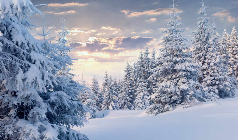 снег, zima, пейзаж, priroda, пейзажи -, небо, kartinka, природа, зимние, winter,
