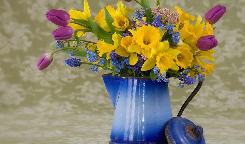 цветы, букет, весна, букеты, тюльпан, об, flowers, pinterest,