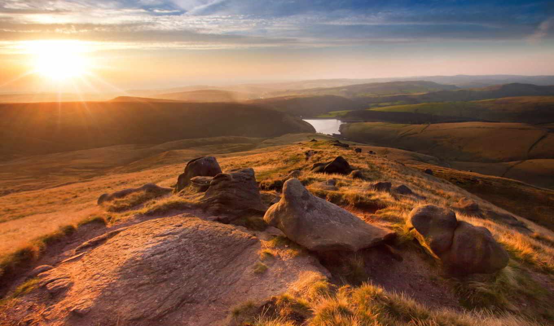 landscape, англия, hayfield, free, природа,