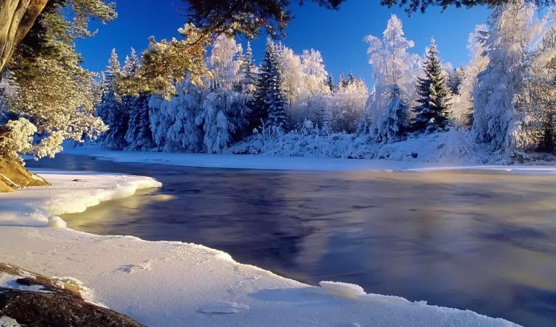 природа, красивые, winter, рубрики, красивая, картинка, зимние, лесу, дорога,