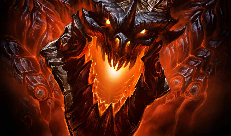 warcraft, world, дракон, wow, cataclysm, игры, смертокрыл, дракона, драконы,