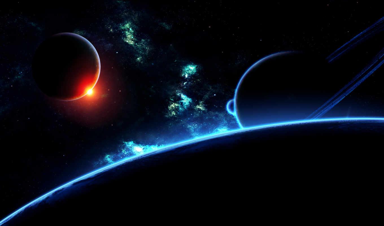планета, небо, пространство, звезды, поверхность, art, планеты, similar,