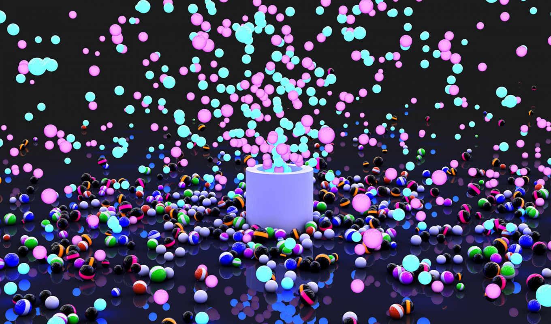взрыв, шары, краска, polet, просмотр,
