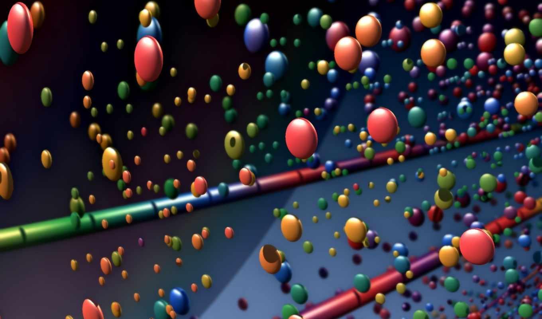 рендеринг, графика, balls, картинка, sticks,