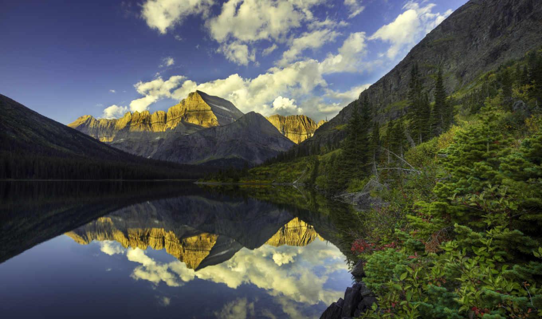 природы, прекрасными, уголками, панорамный, гора, снимок, скалистая, reflection, картинку, ссылка, пейзажи,