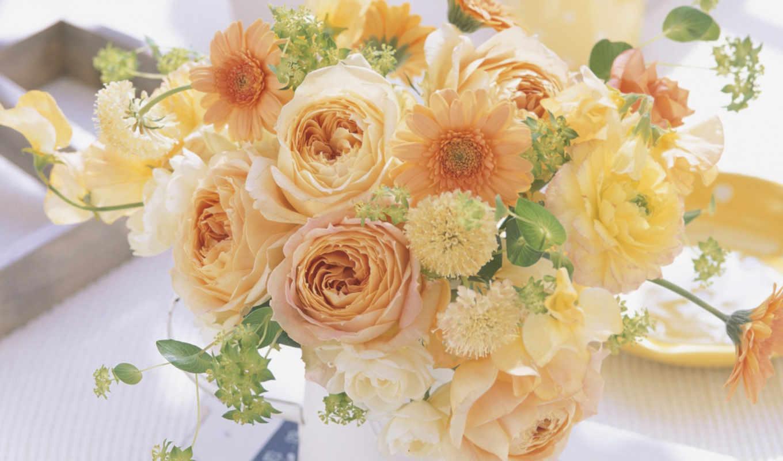 есть, цветы, красивые, розы, букет, нам, композиция, чайные,
