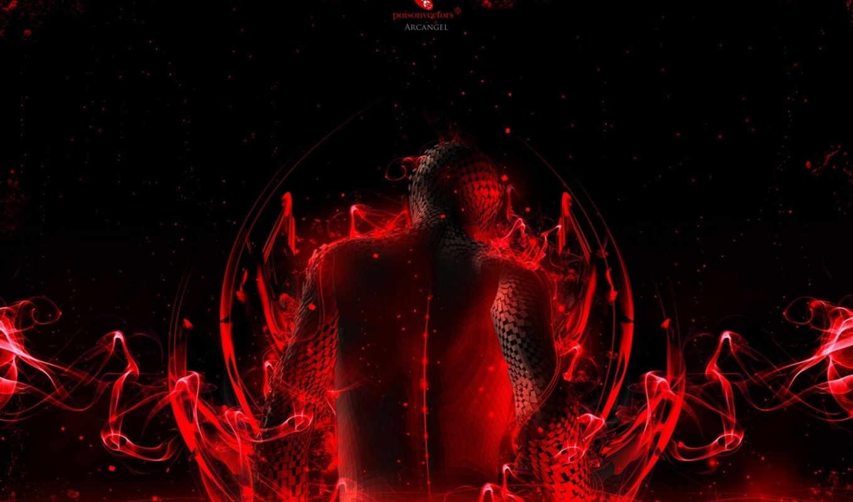red, black, спина, пазлы, картинка,