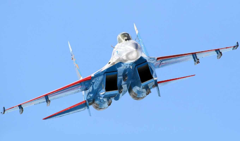 истребитель, sou, flanker, су-27, качестве, airplane, техника, россия, высоком,