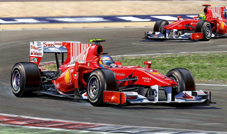 corsa, авто, рисунок, formula, фернандо, alonso, car, racing, giochi,